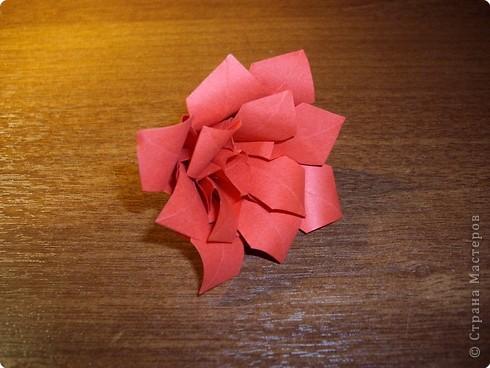 Кусудама Мастер-класс День рождения Оригами кусудама Розочка+МК Бумага фото 17
