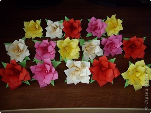Кусудама Мастер-класс День рождения Оригами кусудама Розочка+МК Бумага фото 19