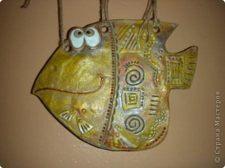 Поделка изделие Кракелюр Лепка Все рыбы до кучи Тесто соленое фото 2
