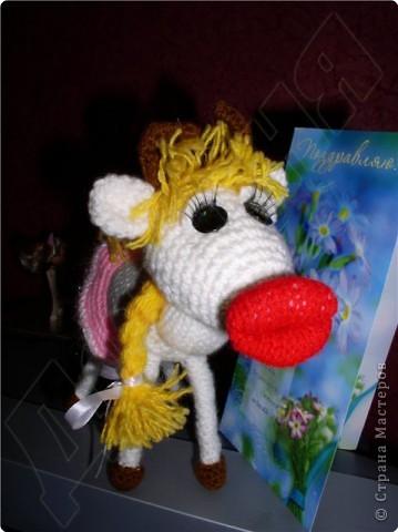 Вязание крючком, Вязание спицами: Буренка в подарок фото 2