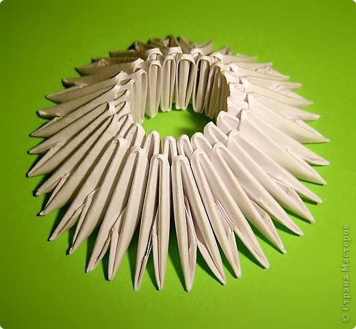 Мастер-класс Оригами китайское модульное Мастер-класс двойного лебедя Бумага фото 21