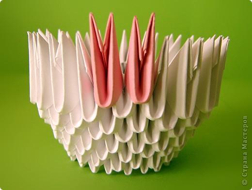 Мастер-класс Оригами китайское модульное Мастер-класс двойного лебедя Бумага фото 22