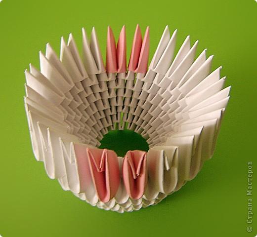Мастер-класс Оригами китайское модульное Мастер-класс двойного лебедя Бумага фото 23