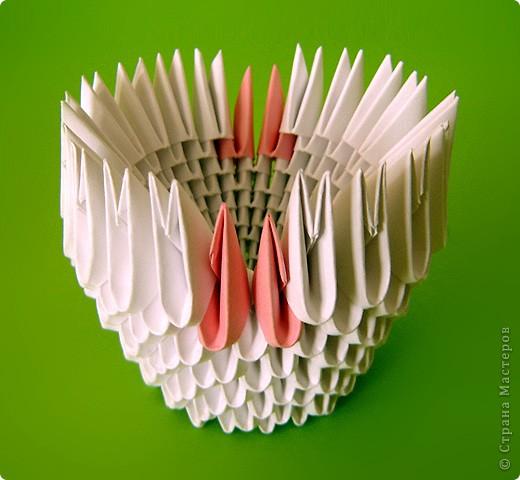Мастер-класс Оригами китайское модульное Мастер-класс двойного лебедя Бумага фото 24