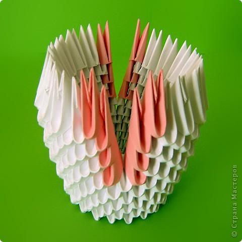 Мастер-класс Оригами китайское модульное Мастер-класс двойного лебедя Бумага фото 26