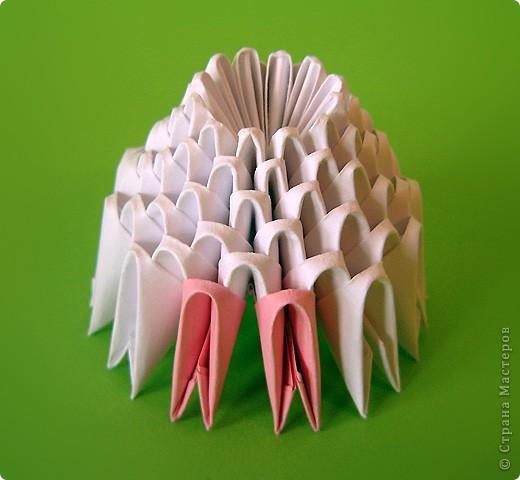 Мастер-класс Оригами китайское модульное Мастер-класс двойного лебедя Бумага фото 30
