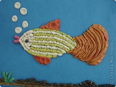 Охраняет подводный мир Водяной, сделанный учениками 4 класса. фото 2