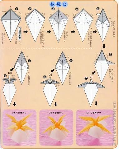 Схемы цветков оригами фото
