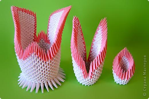 Мастер-класс Оригами китайское модульное Мастер-класс двойного лебедя Бумага фото 33
