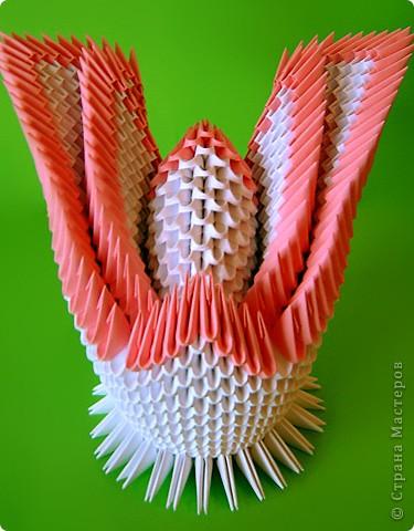 Мастер-класс Оригами китайское модульное Мастер-класс двойного лебедя Бумага фото 35