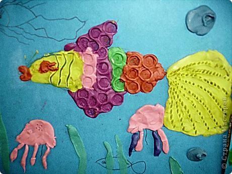 Охраняет подводный мир Водяной, сделанный учениками 4 класса. фото 3