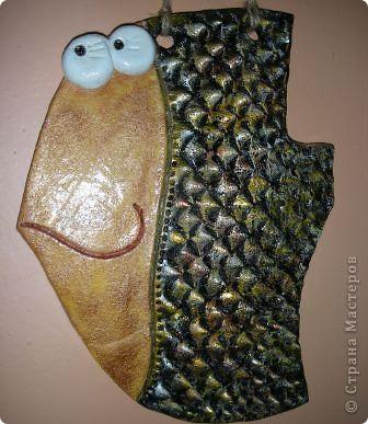 Поделка изделие Кракелюр Лепка Все рыбы до кучи Тесто соленое фото 7