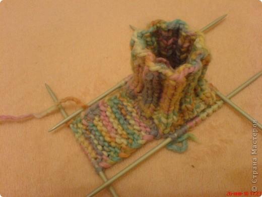 Вязание: Самые простые пинетки. МК. фото 4