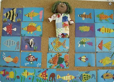Охраняет подводный мир Водяной, сделанный учениками 4 класса. фото 1