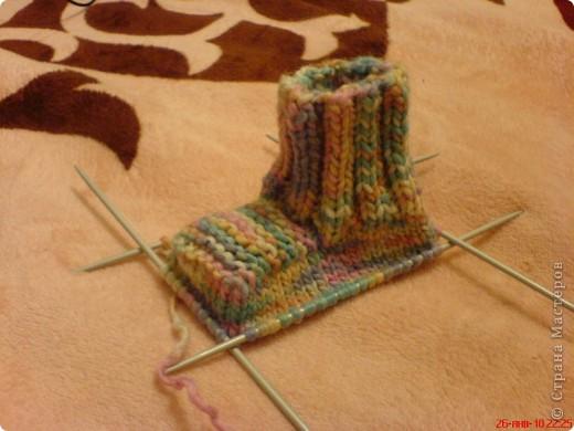 Вязание: Самые простые пинетки. МК. фото 6