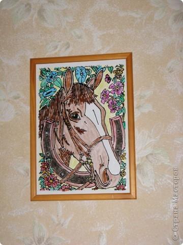 """Витраж: Витраж """"Лошадь"""" фото 1"""