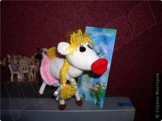 Вязание крючком, Вязание спицами: Буренка в подарок фото 1