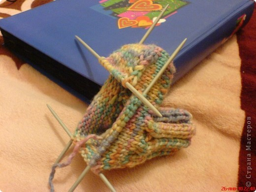 Вязание: Самые простые пинетки. МК. фото 8