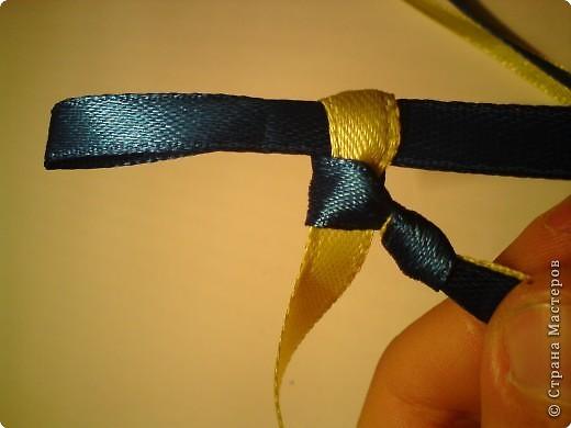 Мастер-класс Украшение Плетение Браслеты фенечки из атласных ленточек Ленты Сутаж тесьма шнур фото 9