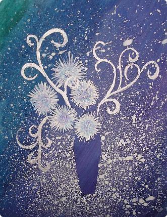 Рисование и живопись: зимний букет