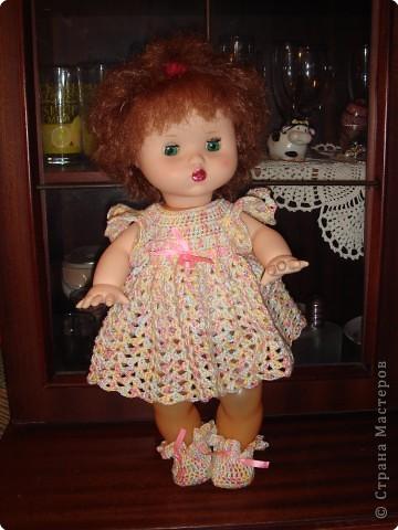 вяжем куклам крючком одежду.  Вязание крючком - Вязанная одежда для куклы.