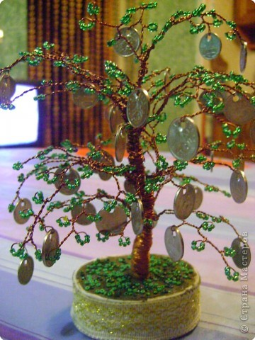 Денежное дерево из веток своими руками фото