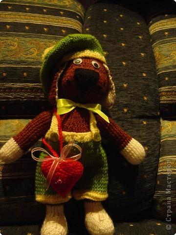 Игрушка вязание спицами песик ричи