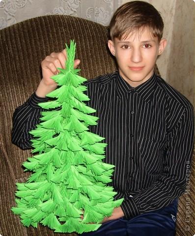 Поделка елка из модулей оригами