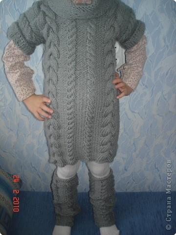 Вязание спицами: платье для доченьки фото 1