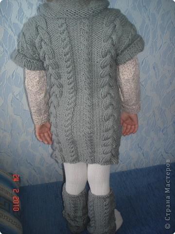 Вязание спицами: платье для доченьки фото 2