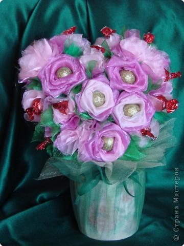 Валентинка из конфет-сердечное поздравление с праздником:)) фото 1