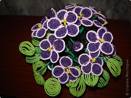 из бисера схема цветы из