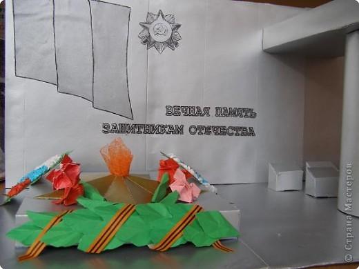 Макет памятника из бумаги
