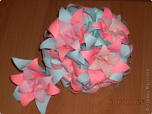 Оригами Лилия Кусудама Бумага