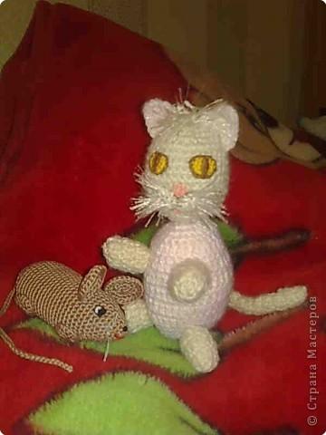 Вязание крючком: Кот и мышь