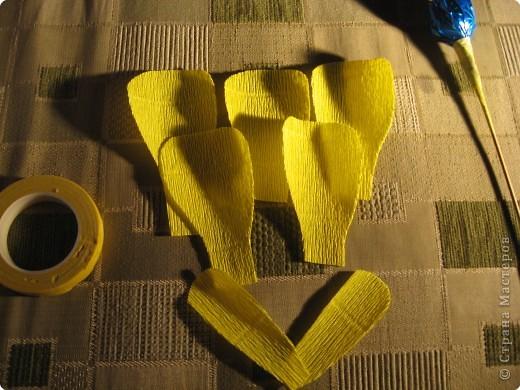 Мастер-класс Свит-дизайн Моделирование конструирование Цветы из конфет МК Бумага гофрированная фото 18