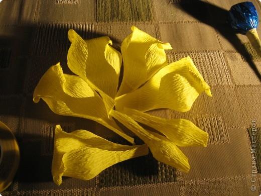 Я хочу рассказать вам как делать некоторые цветы из конфет. фото 22