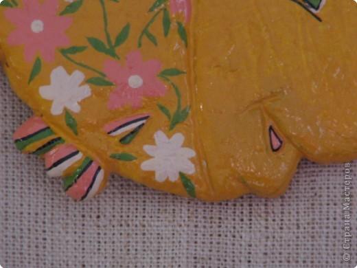 Лепка, Роспись: Золотая рыбка , символизирующая успех в финансовых делах фото 3