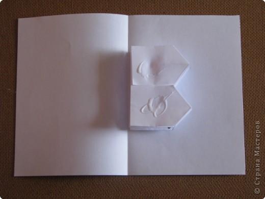 Как сделать открытку с объёмным цветком, даже с самым маленьким фото 12