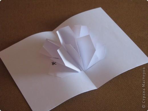 Как сделать открытку с объёмным цветком, даже с самым маленьким фото 14