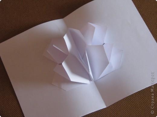Как сделать открытку с объёмным цветком, даже с самым маленьким фото 15