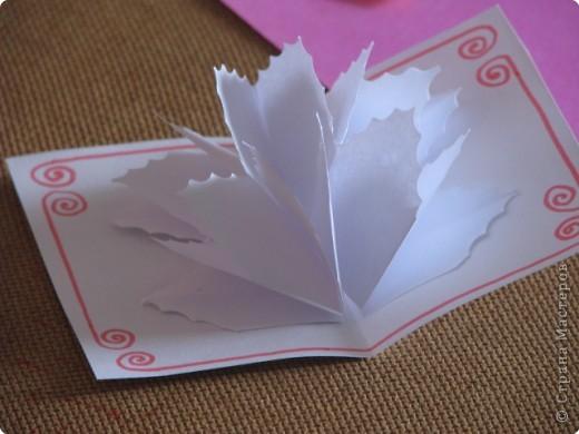 Как сделать открытку с объёмным цветком, даже с самым маленьким фото 4