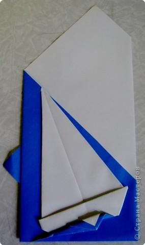Открытка 23 февраля Оригами