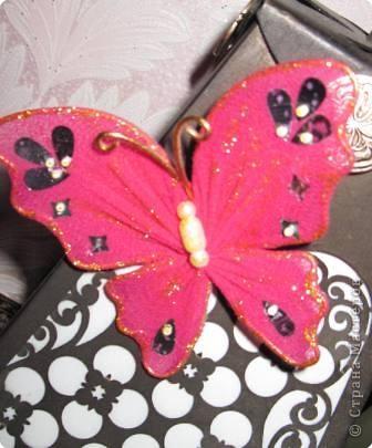 Мастер-класс МК Бабочки Капрон фото 21