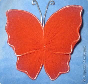 Мастер-класс МК Бабочки Капрон фото 19