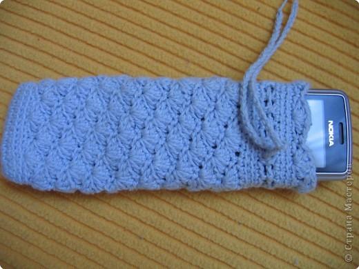 Вязание крючком: чехол на телефон фото 1