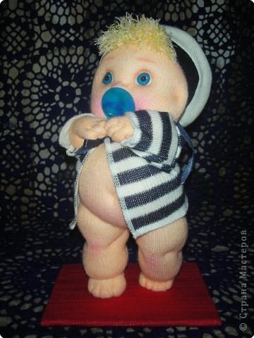 Я матрос, хоть и не дорос. Текстильная кукла. Рост 25 см фото 1