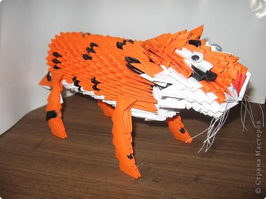 """тигра меня попросил сделать муж. только не """"игрушечного"""", а как можно ближе к реальному. вот что получилось фото 3"""