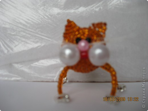 Игрушка Бисероплетение Мои коты Бисер фото 3.