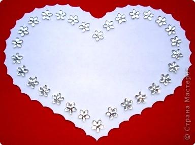 Вот такую открыточку можно вырезать ко дню влюбленных, но мне кажется она больше подходит для свадьбы. фото 3